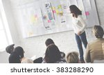 business presentation in a... | Shutterstock . vector #383288290