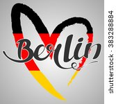 berlin lettering. hand written...   Shutterstock .eps vector #383288884