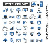 it technology icons | Shutterstock .eps vector #383291998