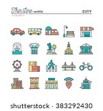 city  transportation  culture ... | Shutterstock .eps vector #383292430