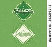 poster  hand lettering ... | Shutterstock .eps vector #383295148