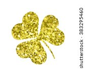 glitter object. clover for... | Shutterstock .eps vector #383295460