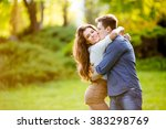 loving couple are hugging in... | Shutterstock . vector #383298769