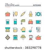 kitchen utensils  food... | Shutterstock .eps vector #383298778