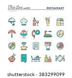 restaurant  phone ordering ... | Shutterstock .eps vector #383299099
