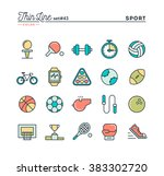 sports  recreation  work out ... | Shutterstock .eps vector #383302720