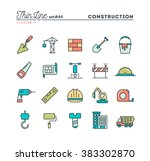construction  building  project ... | Shutterstock .eps vector #383302870