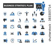 business plan icons | Shutterstock .eps vector #383305714