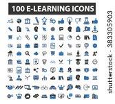 e learning icons | Shutterstock .eps vector #383305903