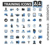 training icons | Shutterstock .eps vector #383306926