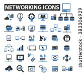 networking icons   Shutterstock .eps vector #383306929