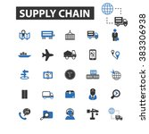 supply chain icons | Shutterstock .eps vector #383306938