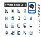 phone tablets icons | Shutterstock .eps vector #383306956