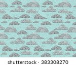 gentle abstract vector  retro... | Shutterstock .eps vector #383308270