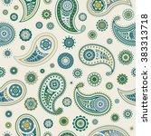 paisley seamless vector pattern | Shutterstock .eps vector #383313718
