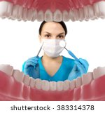 dentist with tools. concept of... | Shutterstock . vector #383314378