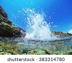 Wave Splash In The Ocean...