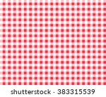 Textured Red And White Plaid...