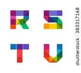 vector colorful alphabet made... | Shutterstock .eps vector #383317168