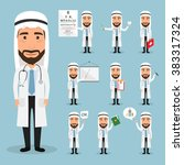 arab doctor character at...   Shutterstock .eps vector #383317324