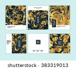 vector set ink texture ... | Shutterstock .eps vector #383319013