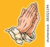 prayer hand. vector illustration