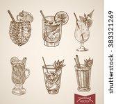cocktail exotic liquor aperitif ...   Shutterstock .eps vector #383321269