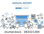 annual financial report concept ... | Shutterstock .eps vector #383321284