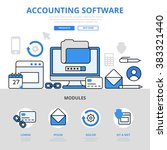 accounting software app... | Shutterstock .eps vector #383321440