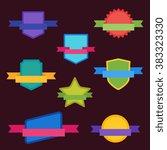 vector badge flat modern style... | Shutterstock .eps vector #383323330