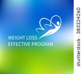 vector logo special weight loss ... | Shutterstock .eps vector #383324260