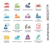 vehicle insurance icons  ... | Shutterstock .eps vector #383324779