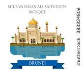 sultan omar ali saifuddin... | Shutterstock .eps vector #383324806