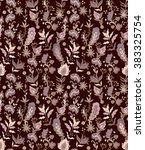 seamless floral pattern | Shutterstock .eps vector #383325754