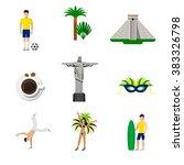brasil brazilian national icons.... | Shutterstock .eps vector #383326798