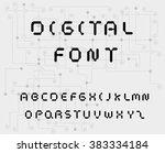 digital style font | Shutterstock .eps vector #383334184