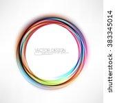 round multicolored frame...   Shutterstock .eps vector #383345014