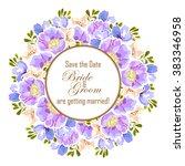 romantic invitation. wedding ... | Shutterstock . vector #383346958