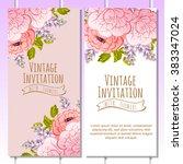 romantic invitation. wedding ... | Shutterstock . vector #383347024
