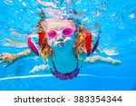 Baby Girl Floating In The Pool...