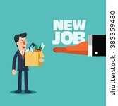 welcome to the new job vector... | Shutterstock .eps vector #383359480