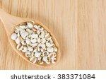 job's tears with wooden spoon ...   Shutterstock . vector #383371084