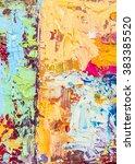 original colorful  thick oil...   Shutterstock . vector #383385520