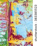 original colorful  thick oil...   Shutterstock . vector #383385523