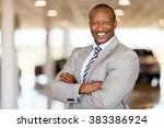 african car sales consultant... | Shutterstock . vector #383386924