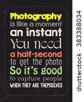 photography quote poster | Shutterstock .eps vector #383388034
