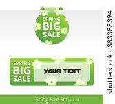 big spring sale set. label with ... | Shutterstock .eps vector #383388394