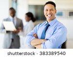 close up portrait of happy... | Shutterstock . vector #383389540