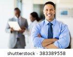 good looking corporate worker... | Shutterstock . vector #383389558
