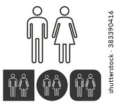 man and woman restroom     ... | Shutterstock .eps vector #383390416